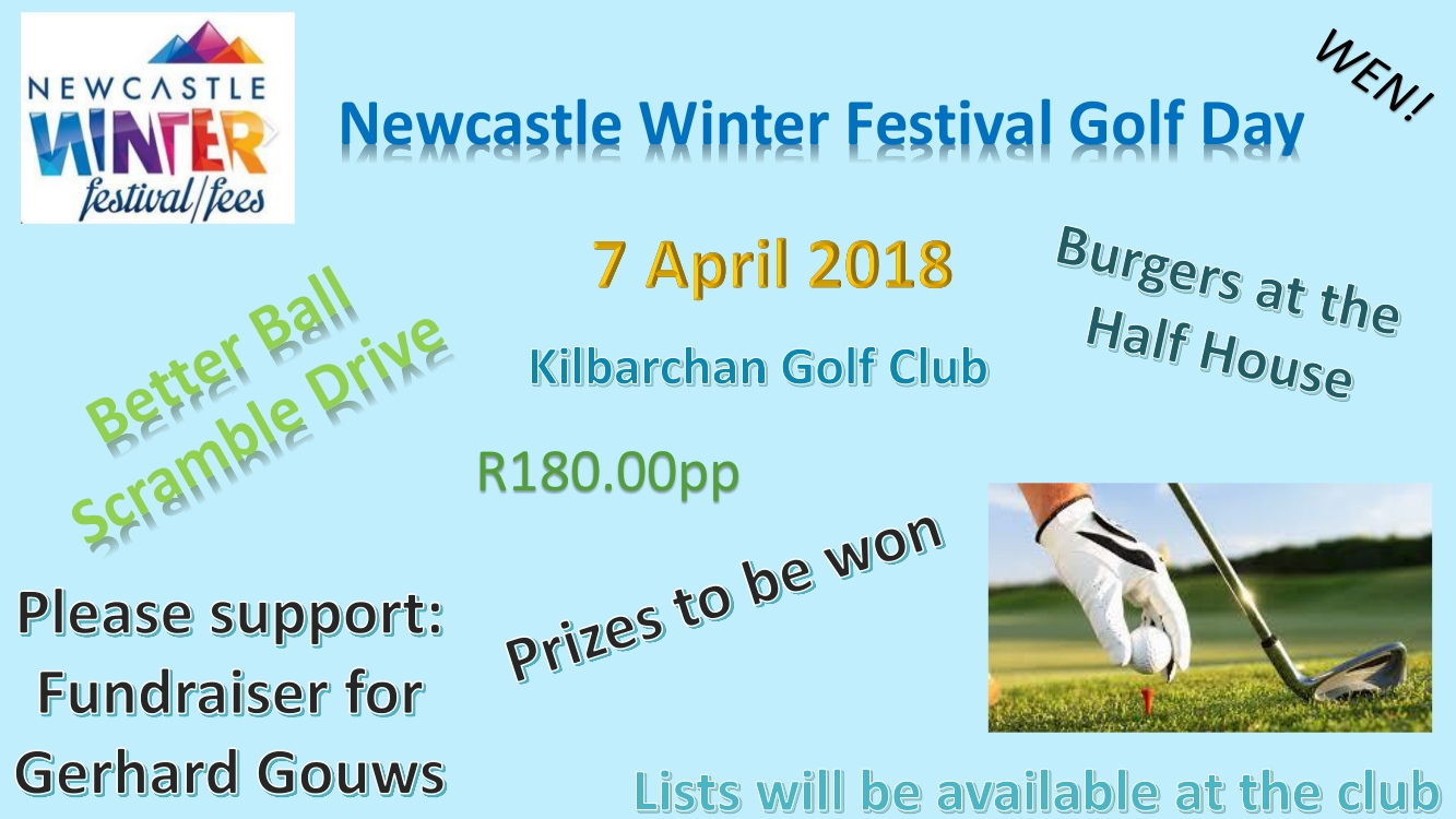 Join us for the annual Winter Festival Golf Day to be held on the 7th of April 2018 at the Kilbarchan Golf Club. Please see further details below.